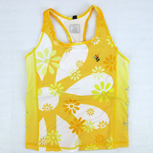 【sporty】黃色女性無袖緊身上衣.自行車.腳踏車.卡打車.單車.小折.車衣.騎行服P082-C0175