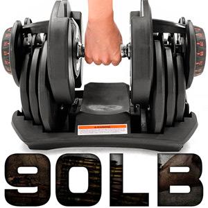 快速調整90磅智慧啞鈴(17種可調式)90LB槓鈴.舉重量訓練機.運動健身器材.推薦哪裡買C176-1090