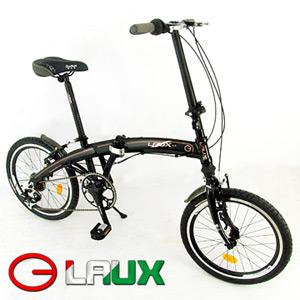 【LAUX 雷克斯】20吋6速鋁合金折疊腳踏車.自行車.單車.卡踏車.小折.小摺