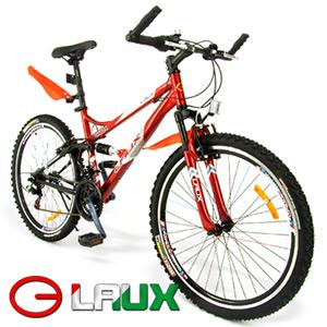 【LAUX 雷克斯】啟航 26吋18速避震登山車及腳踏車.自行車.卡打車.單車(95%組裝完成)