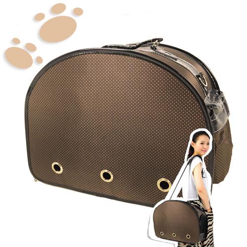 水玉點點寵物出外包(狗.貓.動物.寵物.出外.寵物包.寵物袋.寵物用品.背袋.提籃.側背包.便宜)C141-8816