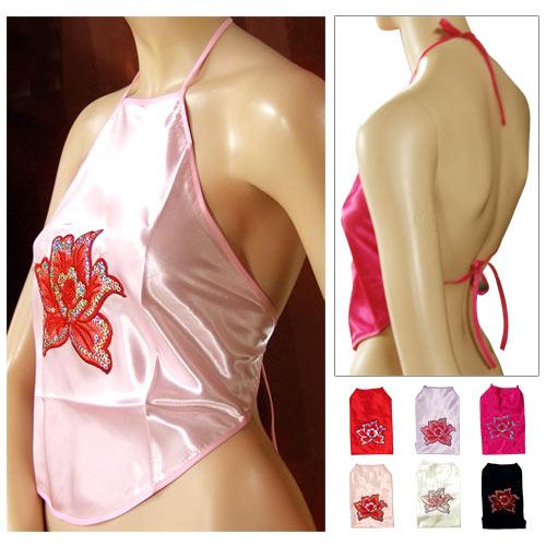 中國圖紋繞頸綁帶肚兜.流行女裝C95-0015