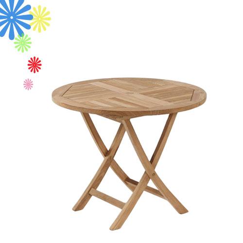 柚木折桌*90cm.庭院家具