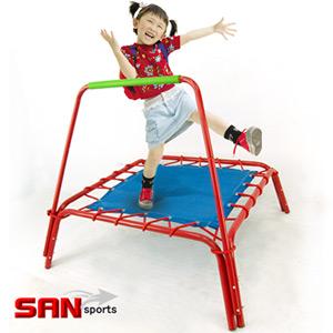 【SAN SPORTS 山司伯特】扶手方形彈跳床.健身.運動