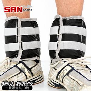 【SAN SPORTS 山司伯特】10磅綁腿沙包(10磅重力沙袋.取代啞鈴.舉重量訓練.運動健身器材.推薦)