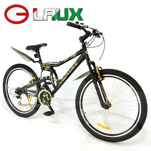 【LAUX 雷克斯】幻影 26吋18速避震自行車.腳踏車.卡打車.單車.登山車(95%組裝完成)