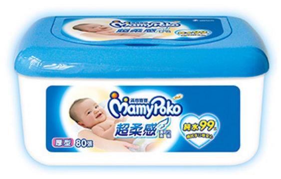 滿意寶寶 超柔感純水濕毛巾盒裝 (80片/盒)