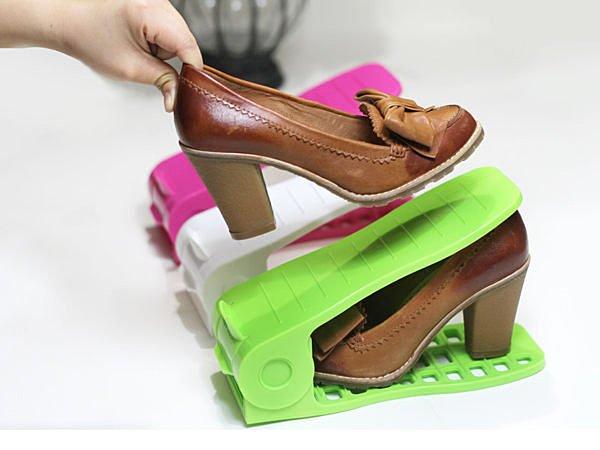 BO雜貨【SV2980】節省雙倍空間 可調式簡易收納鞋架 鞋子收納 鞋盒 鞋櫃 高跟鞋收納
