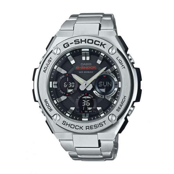 CASIO G-SHOCK GST-S110D-1A絕對強悍 G-STEEL強悍雙顯腕錶/52.4mm