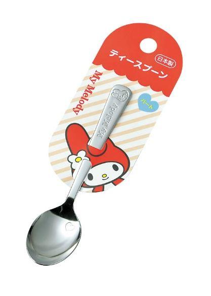 X射線【C169402】美樂蒂不銹鋼湯匙-小,餐具組/環保餐具/開學必備/環保餐具/日本製/甜點