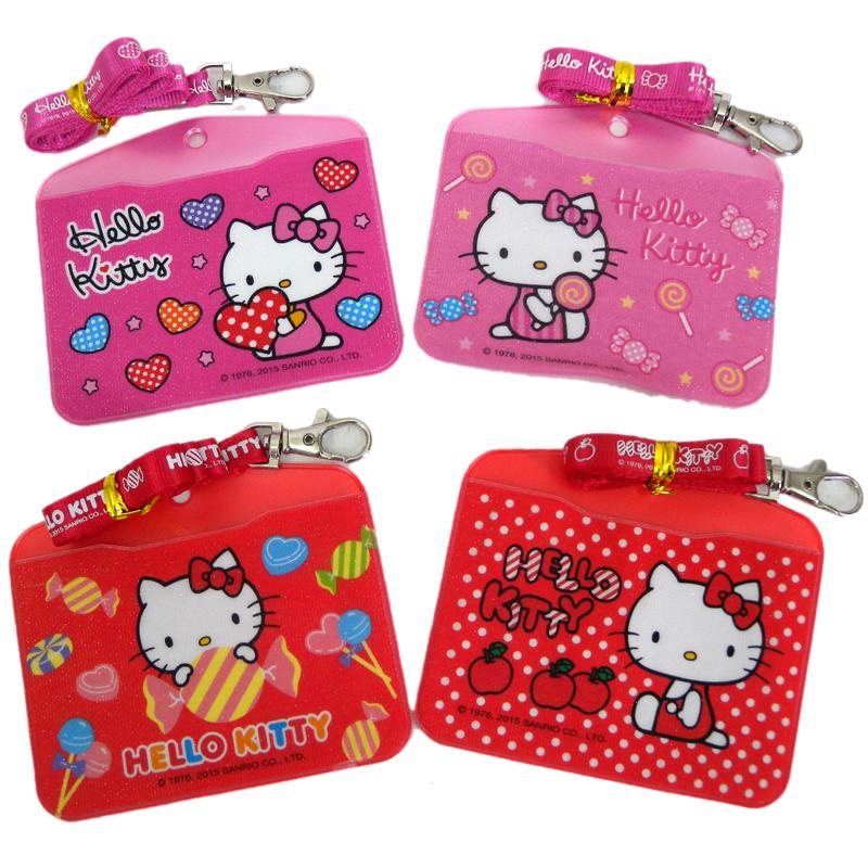 【真愛日本】15071000003三代繽紛證件套組-多款  三麗鷗 Hello Kitty 凱蒂貓  證件套  識別證