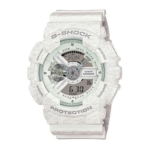 CASIO G-SHOCK GA-110HT-7A石灰紋流行腕錶/51mm