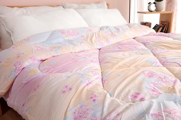 【SILK QUILT 】保暖輕柔蠶絲被-玫瑰花布(2.5kg) 30%蠶絲15D01