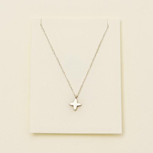 ECO安珂.小小十字架 925純銀鎖骨項鍊【1-1430】