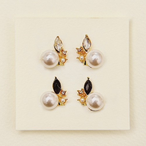 (預購+現貨)ECO安珂.芭蕾伶娜 夾式耳環(螺旋夾/2色)/針式耳環【2-1686】