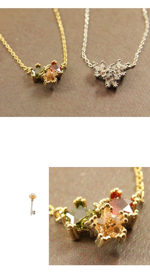星星,水鑽,鎖骨項鍊,韓貨,韓製,韓國,項鍊