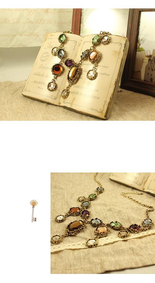 寶石,多鍊,流蘇,韓國,韓製,韓貨,項鍊
