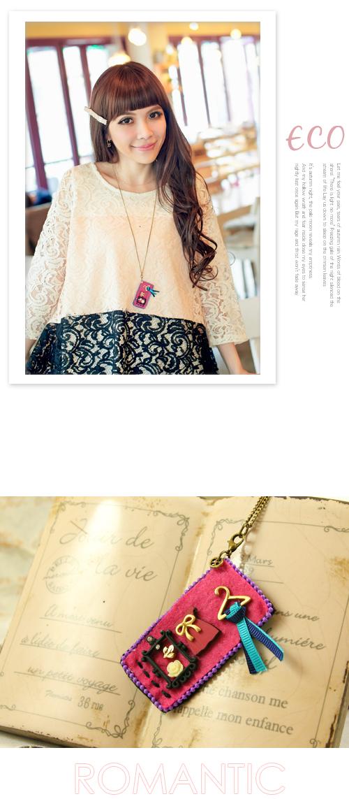 相框項鍊,風,華麗項鍊,長項鍊,韓國製項鍊,韓國飾品,項鍊