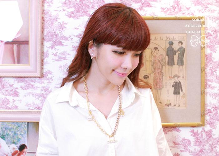 珍珠,戒指,鎖鏈,皮帶扣,韓製,韓國,項鍊