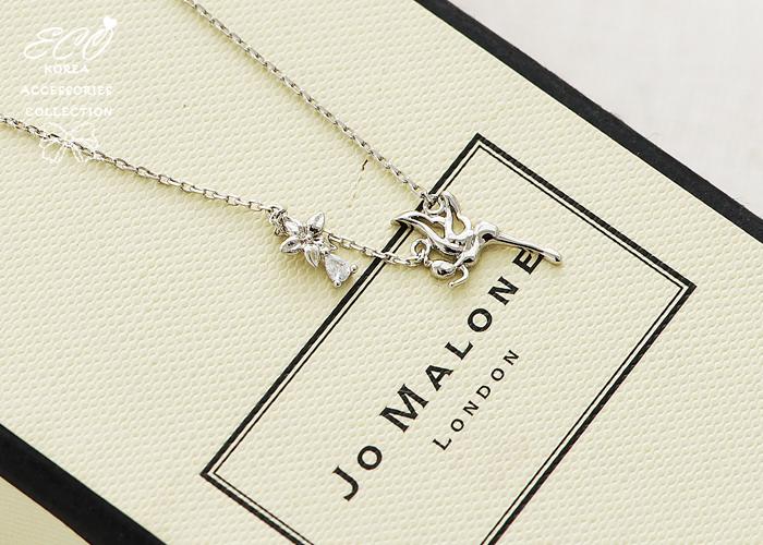 花,鑽,小精靈,鎖骨項鍊,韓貨,韓製,項鍊,純銀