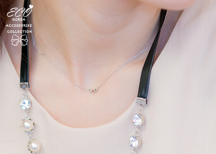 圓鑽,鑽,鎖骨項鍊,韓貨,韓製,項鍊