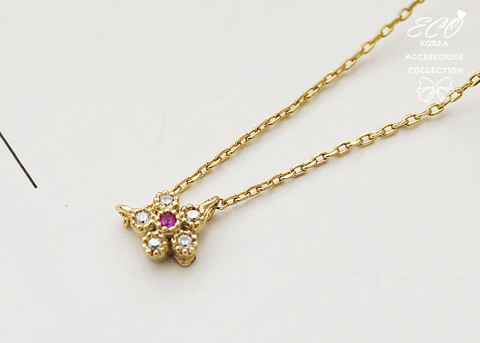 鑽,小花,鎖骨項鍊,韓貨,韓製,項鍊