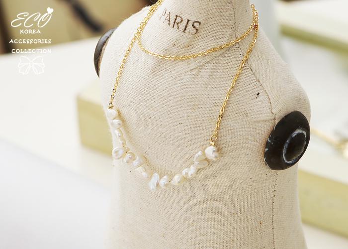 短項鍊,韓貨,天然珍珠,韓製,項鍊