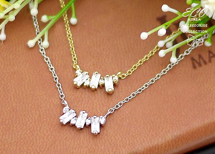 方鑽,鑽,鎖骨項鍊,韓貨,韓製,項鍊