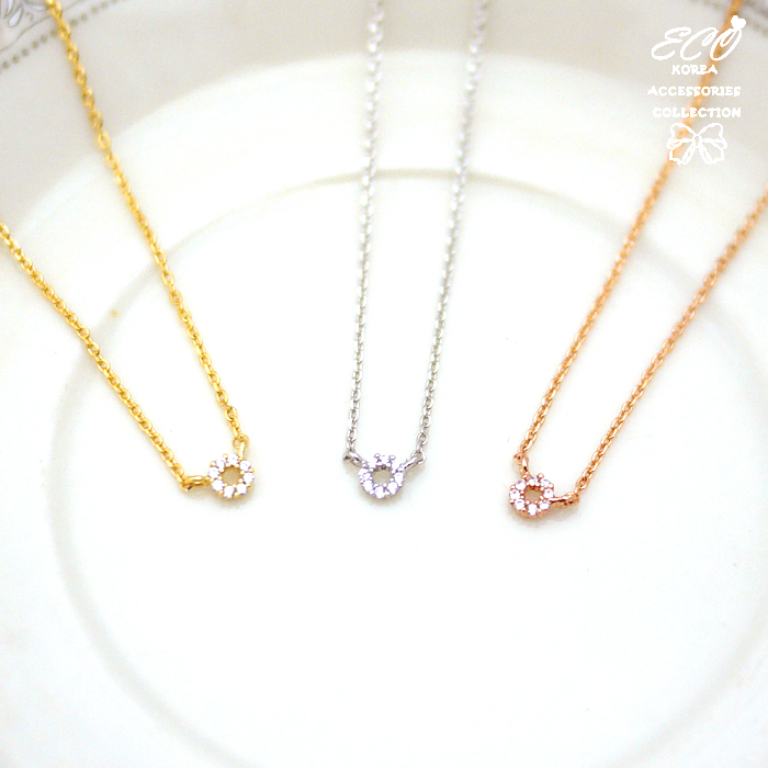 簡約,鑽,圓形,鎖骨項鍊,項鍊,韓貨,韓製,項鍊