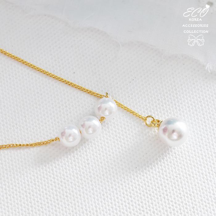 珍珠,Y字鍊,短項鍊,兩種戴法,項鍊,韓貨,韓製,項鍊