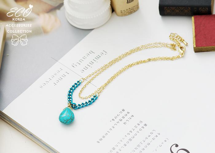 天然石,民俗風,土耳其藍,韓國製腳鍊,韓國飾品,腳鍊