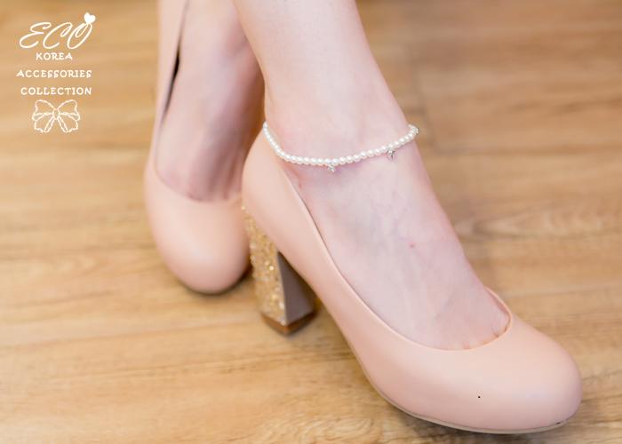 腳鍊,珍珠腳鍊,鑽,韓國製腳鍊,韓國飾品