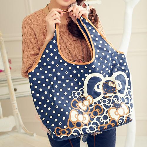 ECO安珂【15-032】漢娜推薦.Hello Kitty × Hallmark聯名款日本地區限定販售折疊輕巧購物袋
