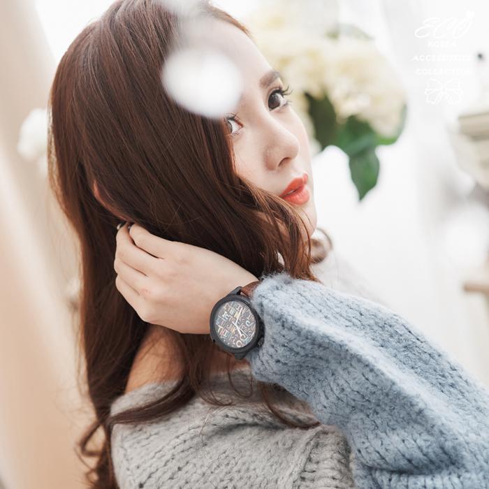 韓國飾品,韓製,韓貨,彩色,手錶,中性,字母,木框