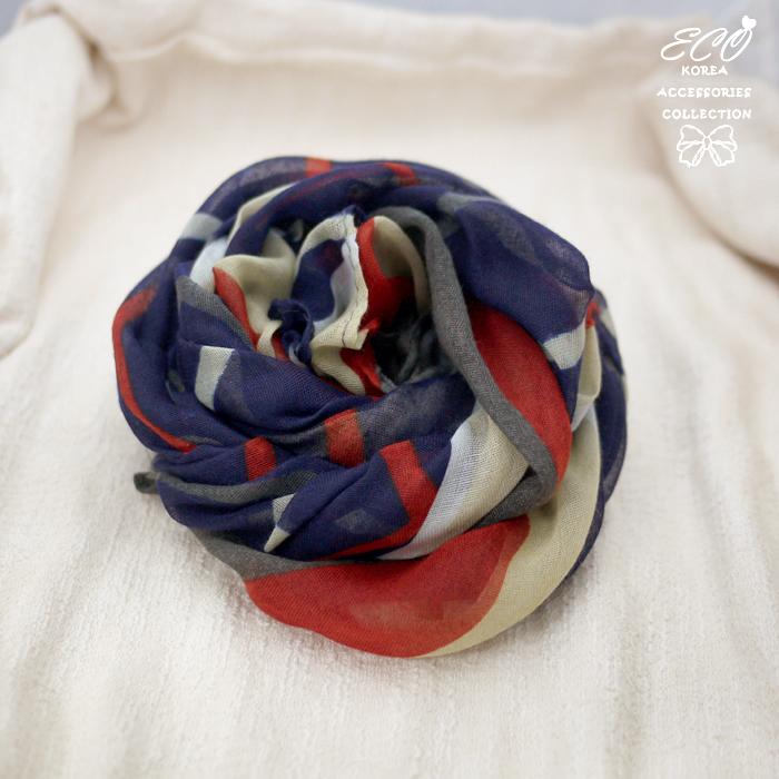 藍白紅線條,線條,絲巾,圍巾