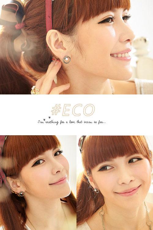 圈圈耳環,珍珠耳環,圓形耳環,復古,韓國飾品,耳環