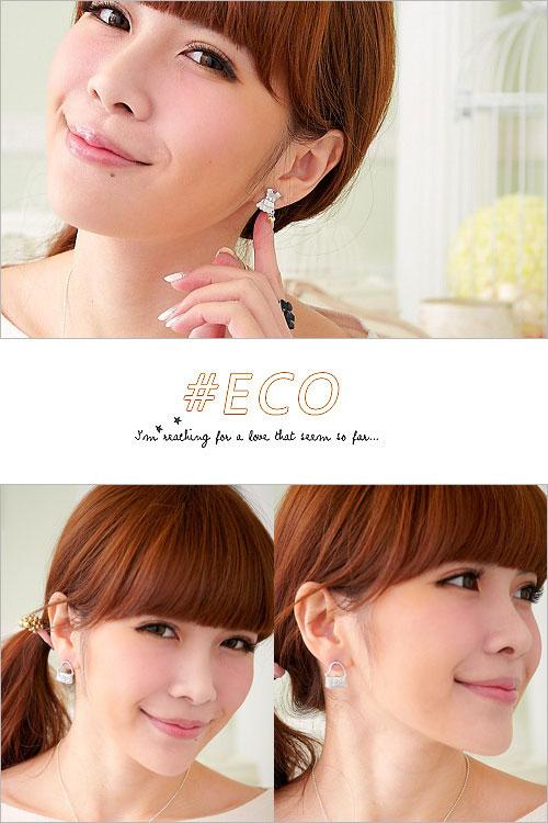 洋裝耳環,愛心耳環,可愛設計,童趣款,韓國飾品,耳環