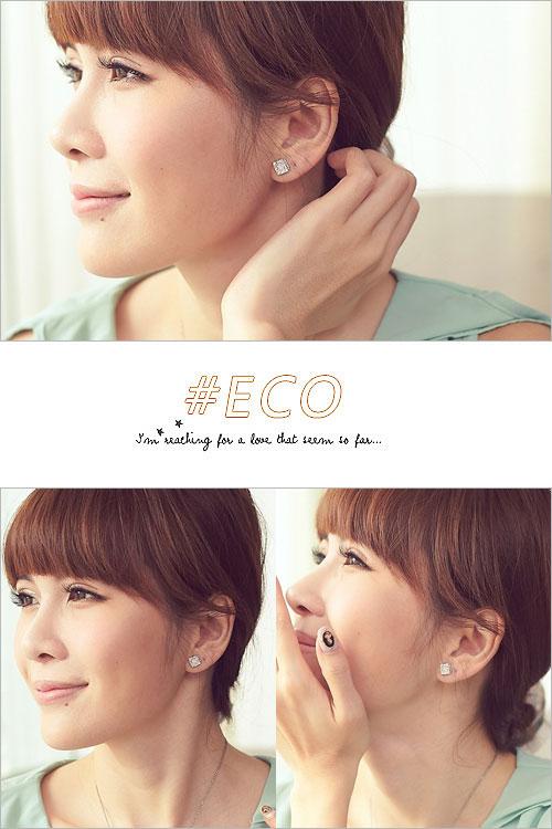 方形耳環,寶石耳環,蛋白石耳環,優雅設計,韓國飾品,耳環