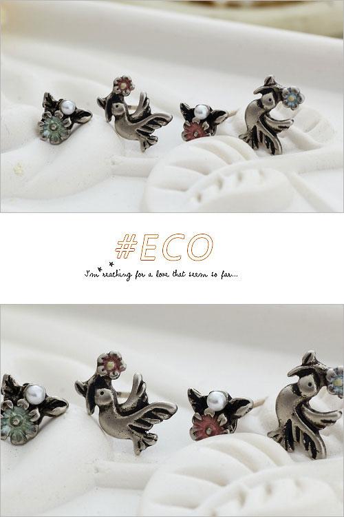 小鳥耳環,小花耳環,古銀飾品,韓國飾品,耳環