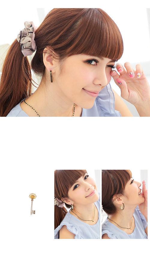 個性耳環,造型耳環,鎖鏈耳環,方型,韓國飾品,耳環