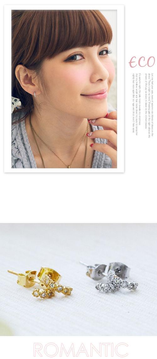 耳環,C圈,水鑽,韓國,韓版
