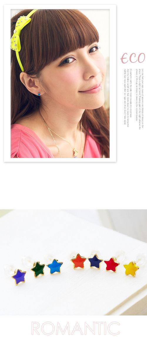 星星,彩色,韓國,韓貨,韓製,韓星,耳環
