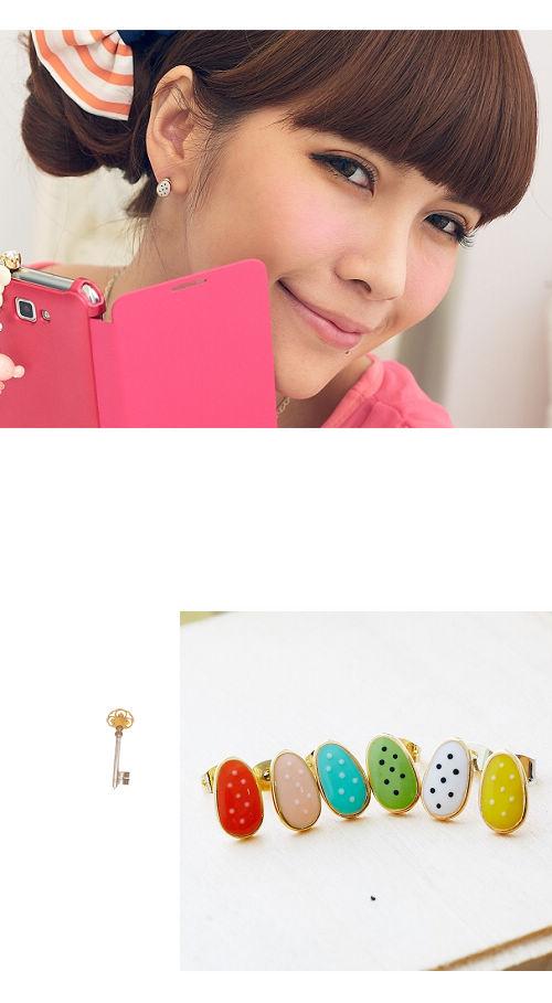 彩色,點點,韓國,韓貨,韓星,韓製,耳環