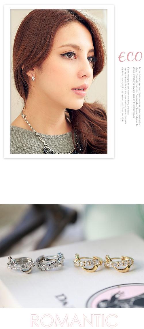 水鑽,韓國,韓製,韓貨,無限,圓扣耳環,耳環