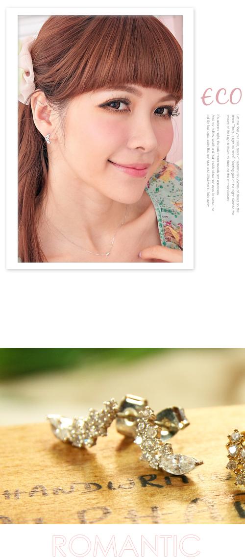 水鑽,彎月,鋯石,韓製,韓國,韓貨,耳環