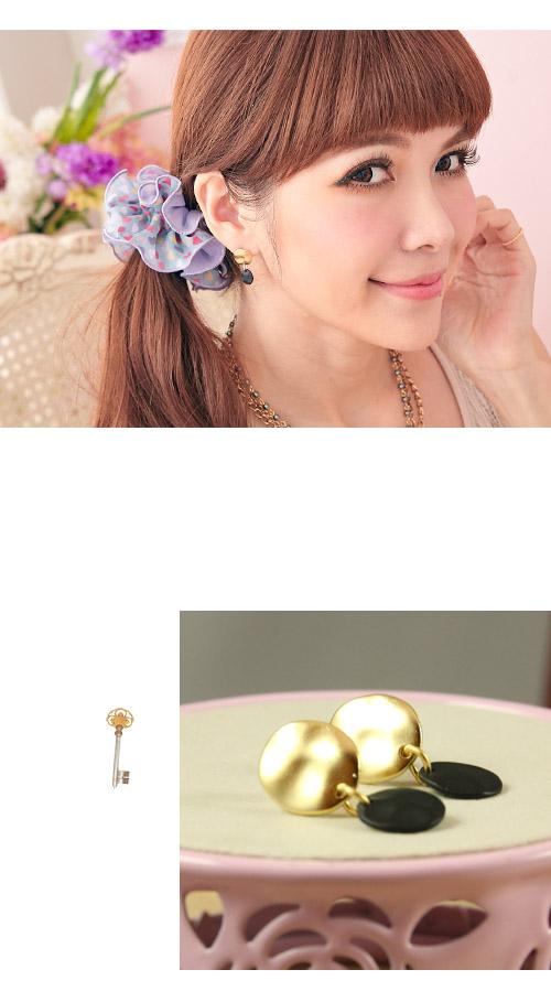 反光,垂墜式,雙色,韓製,韓國,韓貨,耳環