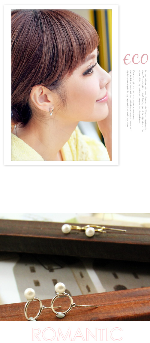 圓形,珍珠戒指,珍珠,韓製,韓國,韓貨,耳環