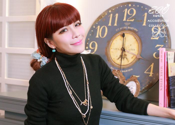 兩用耳環,針式耳環,方塊,韓製,韓國,耳環,螢光