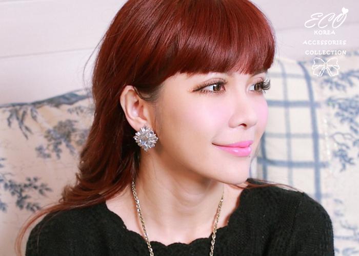 夾式耳環,巴洛克,寶石,韓製,韓國,韓貨,耳環