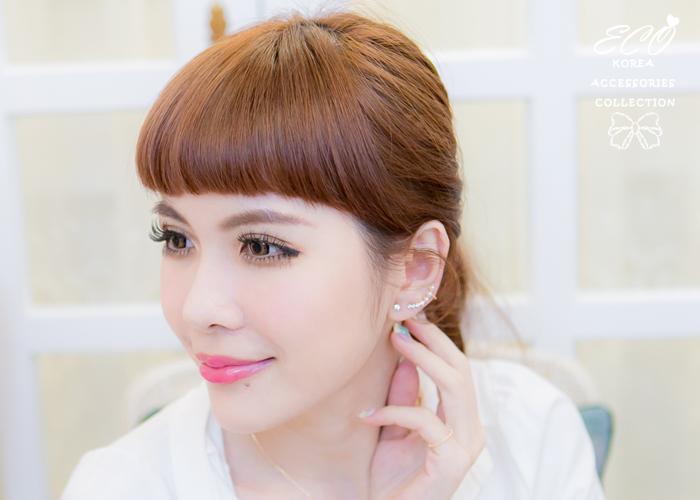 耳骨夾,針式耳環,鑽,珍珠,韓製,韓國,耳環,純銀耳針